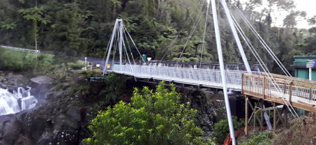 Concrete Pedestrian Suspension Bridge at McLaren Falls