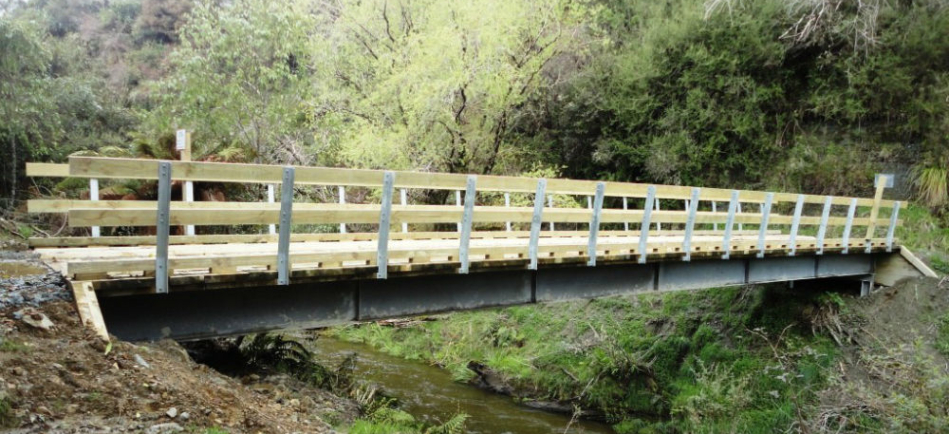 18m timber deck bridge