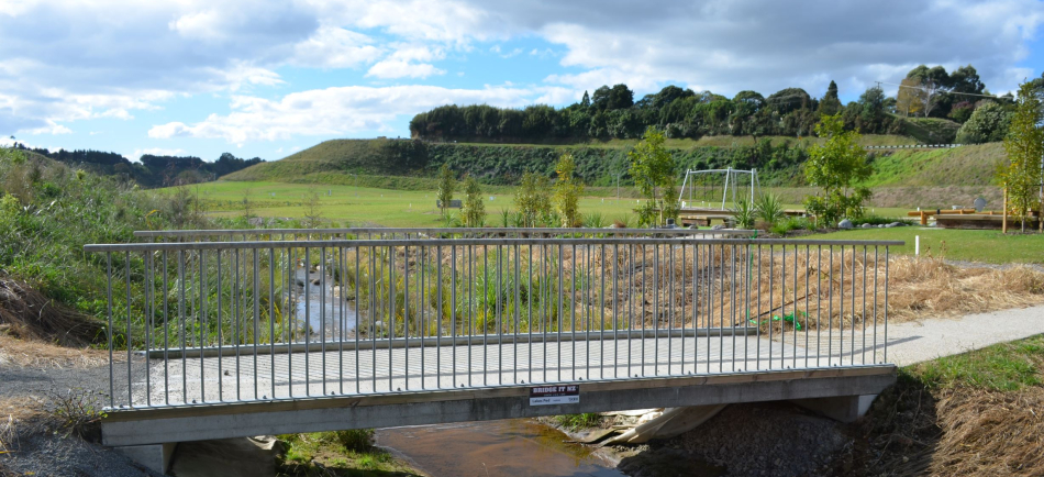 Footbridge from the side