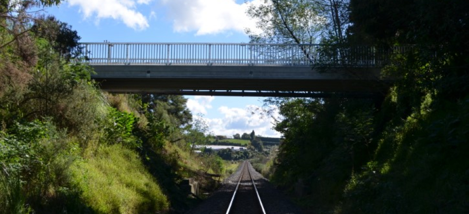 Bridge over railway line