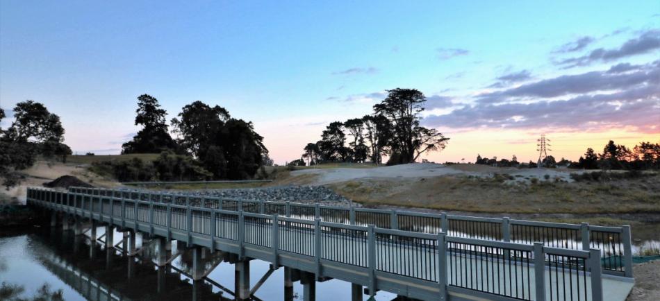 Composite Fibre Bridges for Royal Auckland Golf Club