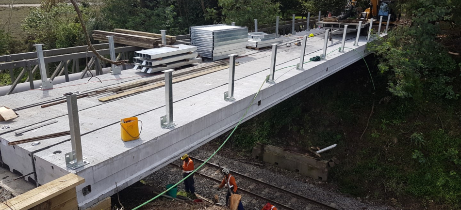Replacement bridge to provide residential access over the railway