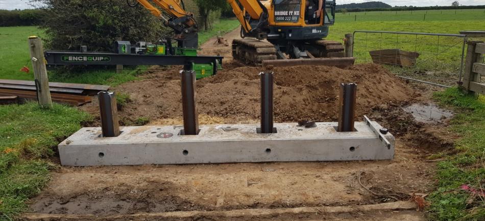 Installation of bridge abutments