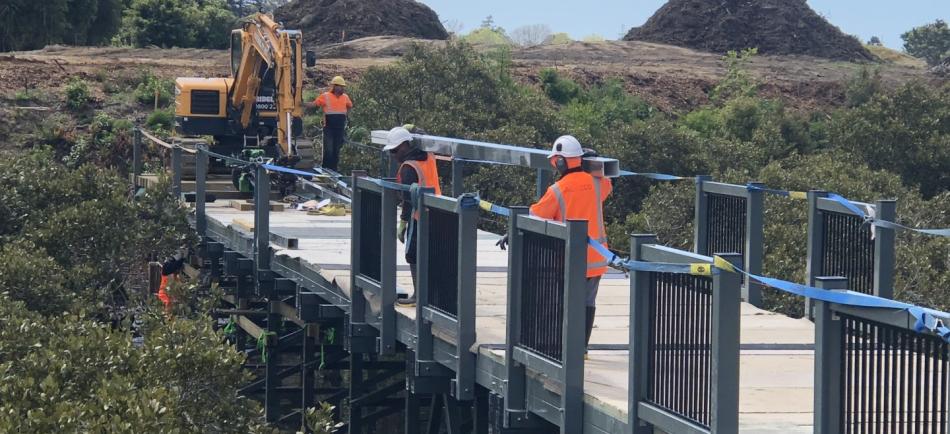 Bridge construction at Royal Auckland Golf Club