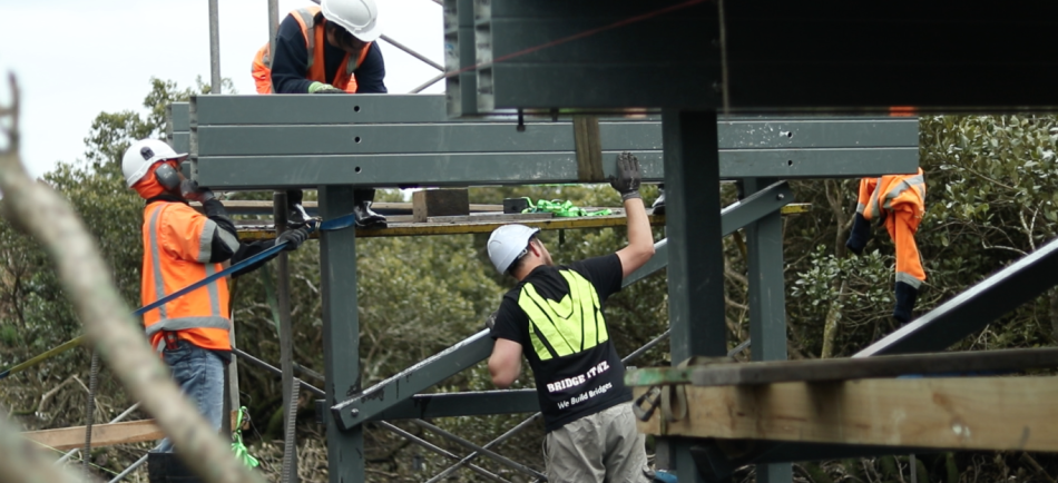 Design and construct a bridge connecting two amalgamated Auckland golf courses