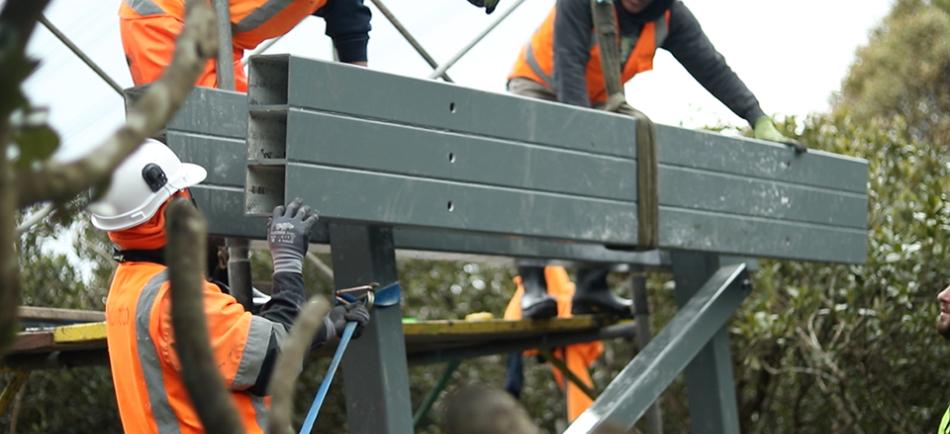 Bridging project in underway