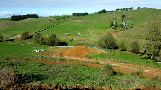 Earthworks for bridge approaches