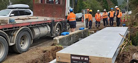 Rotoma - Rotoiti Sewerage Scheme Foot Bridge