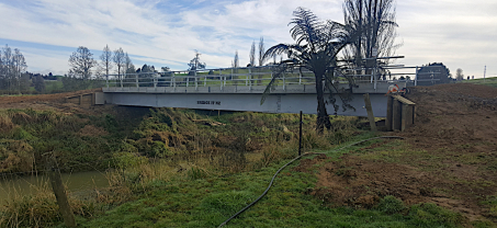 New 22m Bridge for Otorohanga Farm