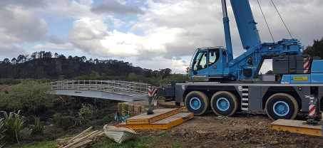 Another Bridge It NZ bridge provides better access for Coromandel Farmer